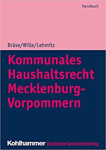 Kommunales Haushaltsrecht Mecklenburg-Vorpommern: Handbuch